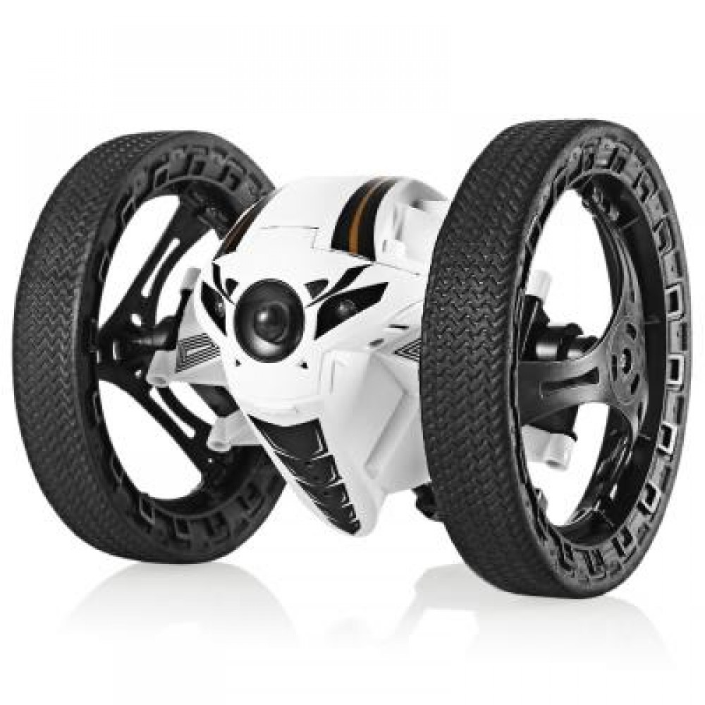 RUNHUZHINENG RH803 2.4GHZ RC JUMPING CAR RTR UP TO 80CM HIGH / IMPACT-RESISTANT / SPEED SWITCH (WHITE) -